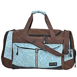 KEANU Sport Bag Adventure Ladies Men ** Many compartments eg shoe compartment, side pockets, front pocket ** 45 Liter Fitness Bag Sport Sauna Bag Travel Bag Hand luggage (Brown Ornament)