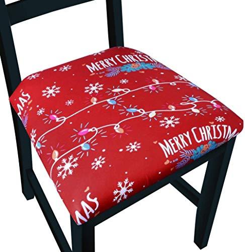 Mazu Homee Cubierta de la silla del comedor del estiramiento para el restaurante, cubierta impermeable de la silla cubierta protectora para la silla de comedor