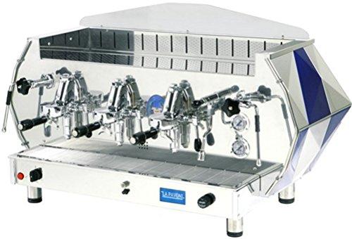 Sale!! La Pavoni DIA 3V-B 3-Group Diamante Volumetric Espresso Coffee Machine, Sapphire Blue, 22.5L ...