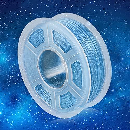 Filamento PLA 1,75mm, Filamento PLA Scintillante Stampanti 3D 1KG, Upgraded PLA Twinkle Blu 1KG Spool