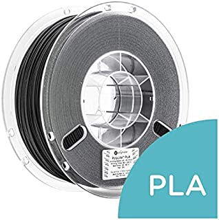 LulzBot PolyLite PLA Polymaker Filament, 2.85 mm, 1 kg Reel, True Black