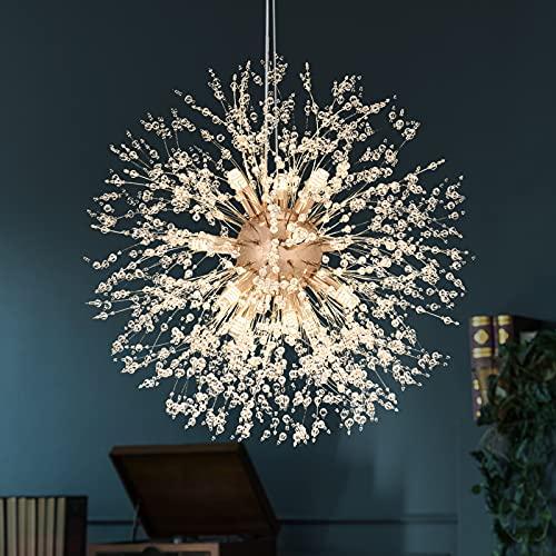 SineRise 12 Lights Modern Gold Crystal Chandelier Light...
