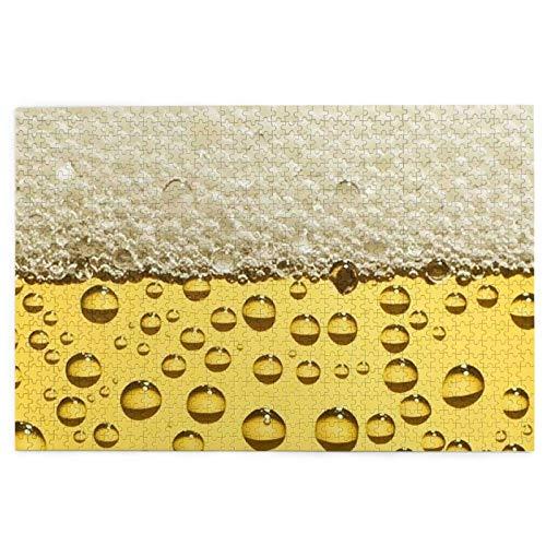 Rompecabezas de 1000 Piezas, Estampado de Espuma de Cerveza, Divertido Juguete Educativo, Juegos educativos, Rompecabezas de decoración del hogar, 75X50 CM