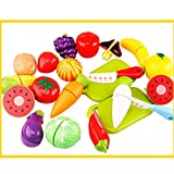 20pcs Jouet de Cuisine Jouets de Coupe Légumes & Fruits Ensemble avec Planche à Découper Meilleur Cadeau Pour Bébé...