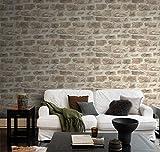 rasch Tapete 860610 aus der Kollektion b.b home passion VI – Vliestapete in rustikaler Stein-Optik – 10,05m x 53cm (L x B) - 3