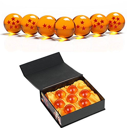 Angelaicos Unisex Stars Acrylic Transparent Play Balls 7pcs Set 4.3cm (Yellow)