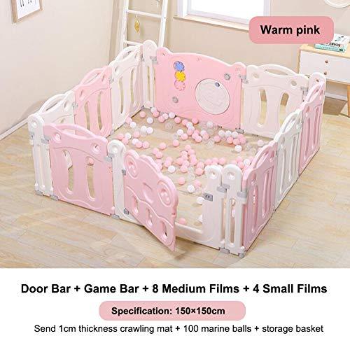 DGYAXIN Baby Laufstall Sicherheitszaun für Heimspielplätze Kinder 62cm super hoher Zaun Babykleinkind, das durch kriecht Geeignet von 3 Monaten bis 6 Jahren,150 * 150cm