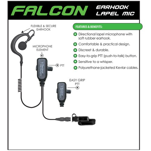 FALCON Quick Release Headset Earpiece for Vertex Standard VX-537 NYPD Radios