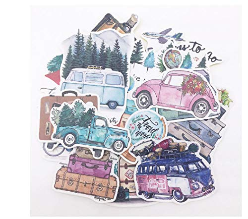 votgl stickers scrapbooking handgeschilderde stickers planten bomen auto bus slow life album tijdschrift happy planner label decoratie stickers
