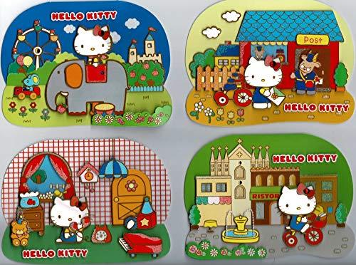 48 Hello Kitty Geburtstagskarten – Spanisch/Portugiesisch – 4 x 12 Karten mit Umschlägen