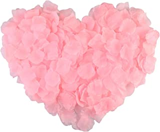 obmwang 3000Pcs Pink Silk Rose Petals Wedding Flower Decoration Artificial Red Rose Flower Petals for Wedding Party Favors...