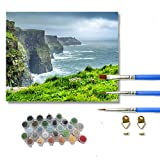 Tianshi Cliffs of Moher, Ireland DIY Digital Oil Painting, Oil Painting On Canvas,A Must