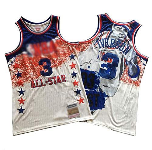 CHSC #3 Allen Ezail Iverson Fan Basketball-Trikot, 76ers All-Star Gedenkversion, Mesh-Unterhemd, Präzisions-Stickerei, Tops für Jungen – Sportgeschenk Gr. S, a