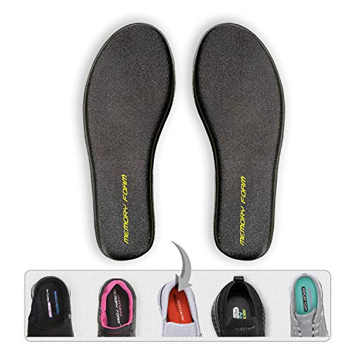shoe pads Memory-Foam Shoe-Insoles Inserts-Replacement Inner-Soles Men-Sizes - Flat-Feet Shoe Pads Inlay-Soles Comfortable Plantar Fasciitis Metatarsal Sneakers Slippers Work-boots Foam Odors Eliminator Inserts