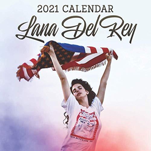"""Lana Del Rey 2021 Calendar: 8.5""""x 8.5"""" Lana Del Rey -2021 Wall calendar"""