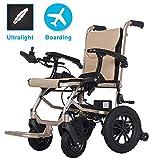 Wheelchair Fauteuil roulant, fauteuil médical de réadaptation pour personnes âgées, personnes âgées, fauteuil roulant électrique pliable, prend en charge jusqu'à 220 lb, ne pèse que 35 lb, 12 milles