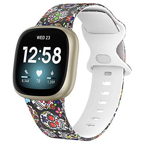 Glebo Versa 3, cinturino di ricambio per Fitbit Versa 3/Fitbit Sense, in morbido silicone, impermeabile, cinturino di ricambio per orologio sportivo da uomo e da donna