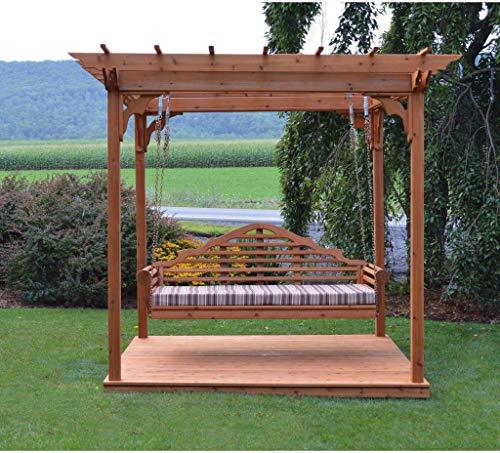 A & l furniture co. Western red cedar 8'x10' pergola w/deck & swing...