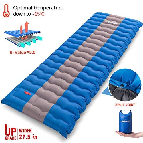 Overmont Matelas Camping de Gonflable Tapis de Couchage Gonflable 12 cm Compact et...