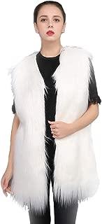 ZWWZ Womens Sleeveless Winter Body Warm Coat Faux Fur Waistcoat Vest Short Jacket