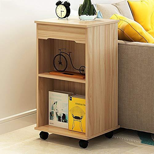 WEDF Comodini Divano Piccolo caffè Tavolo smontabile Living Room Divano Fianco del Mobile da Tavolo (Colore: Noce C-Light)