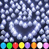 JJGoo 100pcs LED Balloon Light Mini Round Balls Lights, Waterproof Tiny Led Light Long Standby Time Lights for Balloon Paper Lantern Birthday Party Wedding Halloween Christmas Decoration