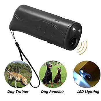 Tasquite 3en 1Entraînement pour arrêter aboiements répulsif à ultrasons LED ultrasons LED entraîneur Dispositif Inoffensif pour Animaux de Compagnie et Humains
