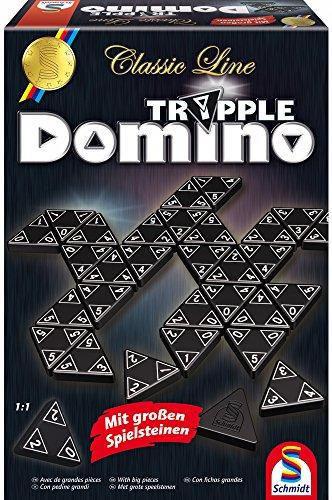 Schmidt Spiele SCH49287 Classic Line, Tripple Domino, mit großen Spielsteinen, Bunt, 0.75 l