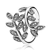 MENGzhuHSA Moda 925 Anillo de Plata esterlina Encaje de Flor de Amor eternamente Entrelazado Lujoso Anillo Femenino joyería de Moda Accesorios de niña (Gem Color : 1, Ring Size : 7)