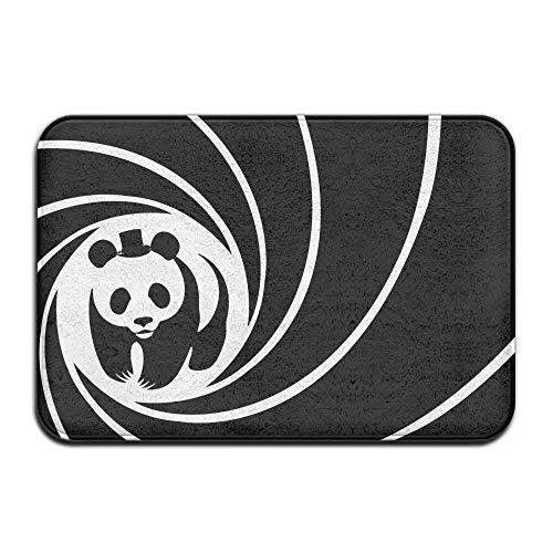 Novelcustom Black White Panda Indoor Outdoor Doormats Super Absorbs Mud Dirt Easy Clean Cute Cat Floor Rug Door Mats 15.7\