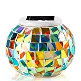<span class='highlight'><span class='highlight'>KEEDA</span></span> Mosaic Solar Lights, Color Changing Crystal Mosaic Glass Ball LED Night Lights, Solar Powered Bedside/Desk/Table Lamps Lights, Solar Outdoor Garden Patio Party Mood Lights, Tabletop Decorative Lighting, Party Lights(Glass Cullet, Dazzle Color)