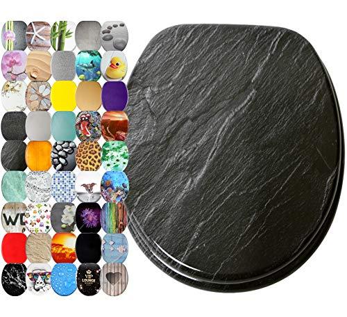 WC Sitz, viele schöne WC Sitze zur Auswahl, hochwertige und stabile Qualität aus Holz (Granit)