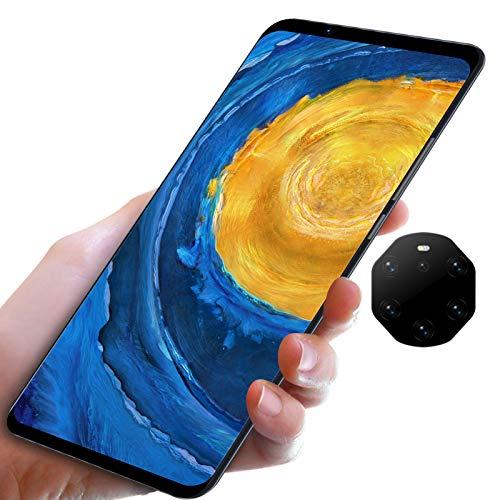 gostcai Mate40 RS teléfono Inteligente con Pantalla de 5.8 Pulgadas, teléfono HD de Pantalla Completa, teléfono móvil con Doble Modo de Espera, teléfono de Pantalla Grande, WiFi, Bluetooth(Negro)
