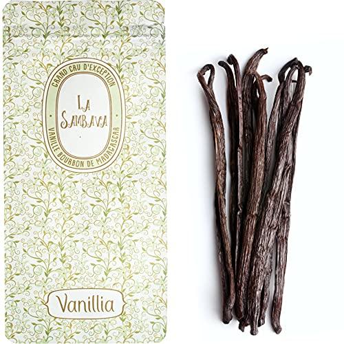 VANILLIA • 15 Gousses de Vanille Bourbon de Madagascar LA SAMBAVA • 16-18cm • GRAND CRU DEXCEPTION • Le meilleur de la récolte • Sachet fraîcheur ZIP refermable & éco-responsable