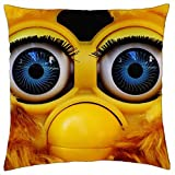 LESGAULEST Throw Pillow Cover (24x24 inch) - Furby Cute Blue Eye Soft Toy Toys Children Funny 1