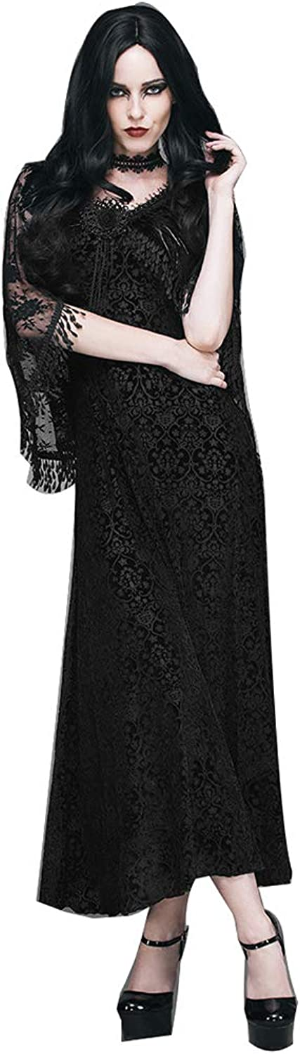 Womens TwoPiece Gothic Sexy Slim Velvet Strap Party Evening Dress with Fringed Shawl Bodycon Performance Clothing