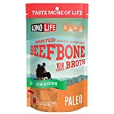 LonoLife Low-Sodium Grass-Fed Beef Bone Broth Powder with 10g Protein, Paleo and Keto Friendly, Stick Packs, 10 Count