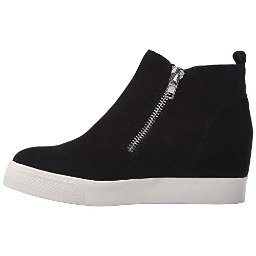 6eb4563220a Womens Wedge Platform Sneakers Ankle Booties Heel Zipper Faux Leather  Comfort Casual Shoes