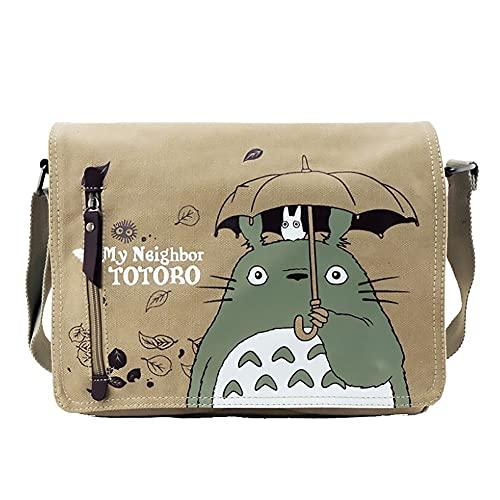 Totoro Sac à bandoulière en toile pour femme Motif dessin animé, b, 26*7*31cm,