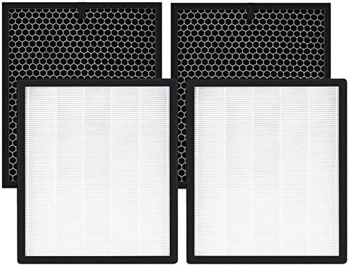 FOSUN Premium HEPA-Ersatzfilter und Aktivkohlefilter Kompatibel mit Philips Luftreinigern AC2889 / 10, AC288710, AC2882 / 10, AC3829 / 10, 2 Sätze Ersatzfilter