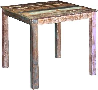 vidaXL Table de Salle à Manger Cuisine Bois Massif de récupération 80x82x76 cm