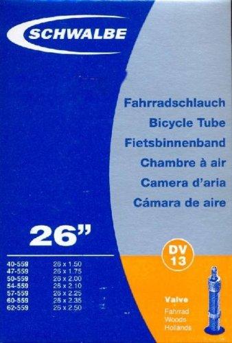SCHWALBE Fahrradschlauch DV13 mit Blitzventil ~ 26