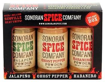 Ghost Pepper - Habanero - Jalapeno Powder Gift Box