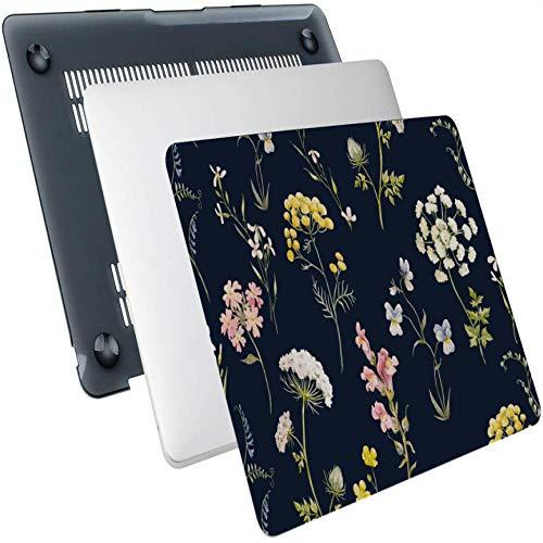Macbook Case Floral Delicate Flower Plástico Hard Shell Compatible Mac Air 13'Pro 13' / 16'Macbook Pro Funda Protectora para computadora portátil para Macbook 2016-2020