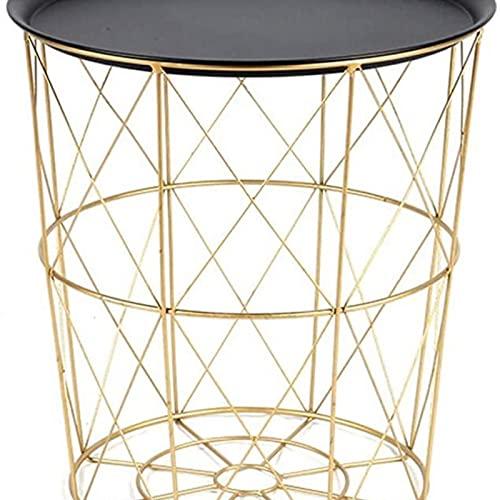 Eortzzpc Sofa Side Table, Kaffeetische Nordic Creative Schmiedeeisen Kleine Couchtisch Mini Sofa Tisch Schlafzimmer Bett Kleine Runde Tabelle Mehrere Endtische (Größe: l),End Table for Living Room