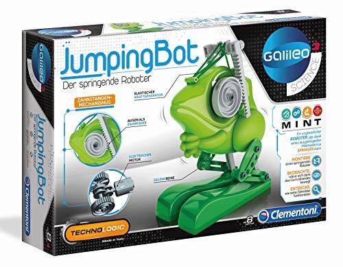 Clementoni- Galileo Science JumpingBot-Robot, Iniziare a Costruire elettronicamente e robotica, Alta Tecnologia per Bambini a Partire dagli 8 Anni, 59160