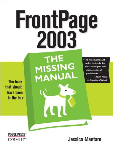 FrontPage 2003: The Missing Manual (English Edition)