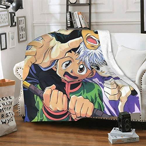 Gon Hun-ter X Hun-ter The Last Mission Leorio Greed Island Anime Sherpa Überwurf Decke Dekoration Decken Wrap Falten frei antistatisch Sofa-Zubehör 127 x 101,6 cm