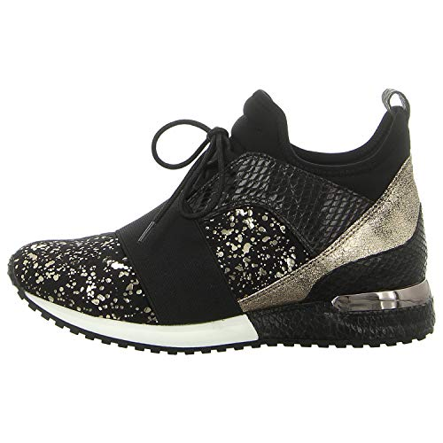La Strada dames sneaker sneaker met goud 1707151-5401 zwart 738740
