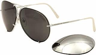 保时捷设计型号 8478P(白色)飞行员太阳镜带额外镜片;4 种尺寸